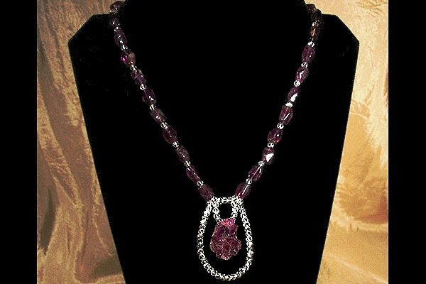Sophisticated Amethyst Crystal Necklace