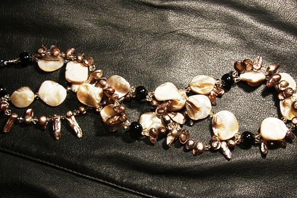 Black Onyx with Mocha Pearls