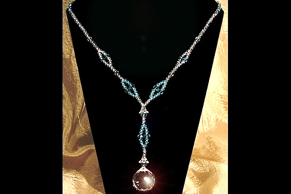 Magnificent Swarovski Crystal Ball Long Necklace