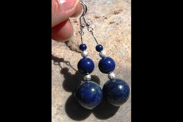 Vivid Royal Blue Lapis Lazuli Sterling Silver Earrings