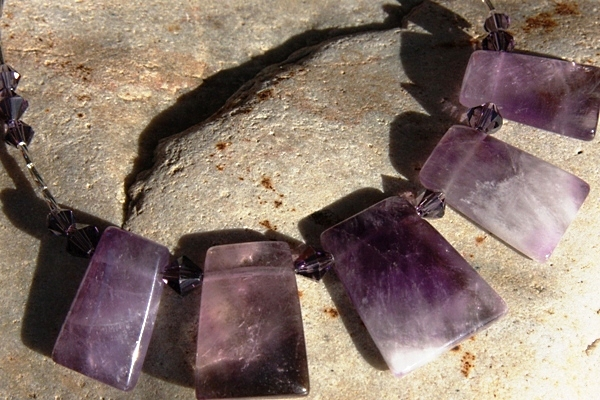 Sparkly Amethyst Crystal Necklace