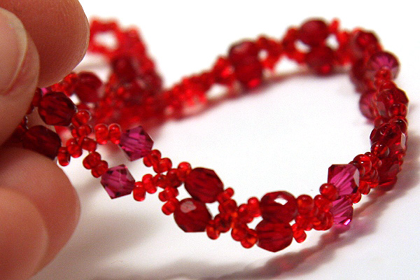Teeny Tiny Ruby Red Necklace